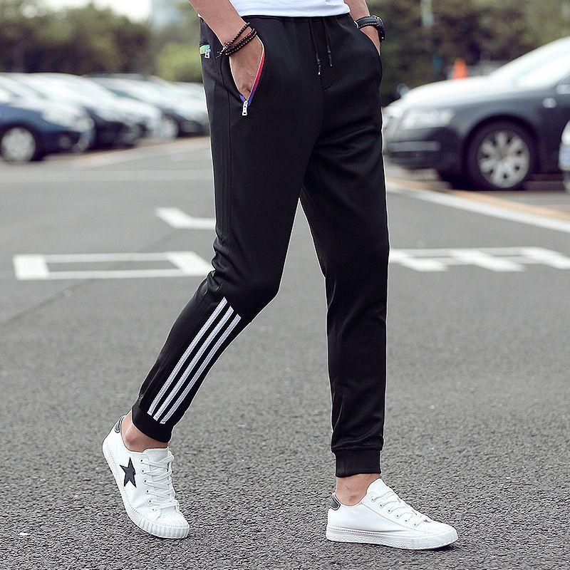 2019 new fashion micro-elastic men's casual pants European size