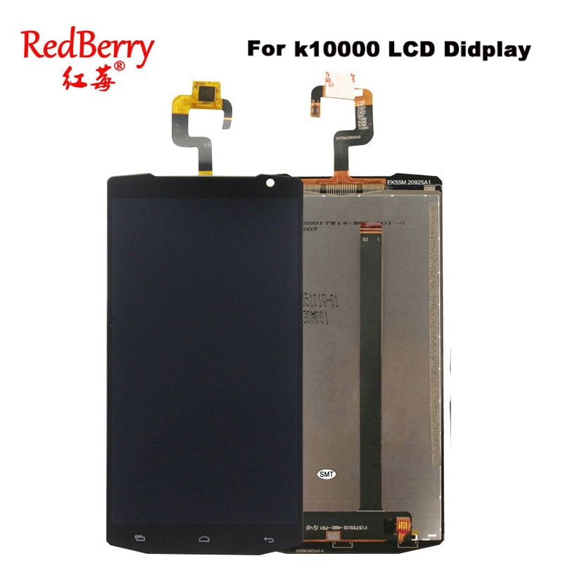 Redberry For Oukitel K10000 LCD Display With Touch Screen Digitizer Assembly Free Shipping + tools