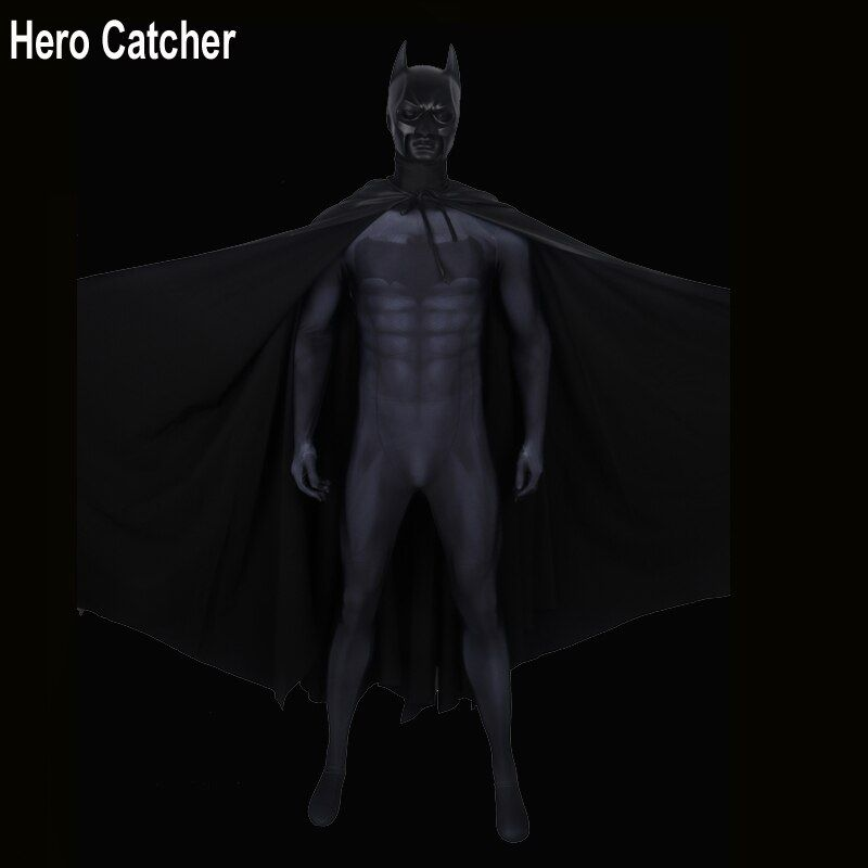 Hero Catcher Top Qualität Batman Cosplay Kostüm Mit Helm Mit Cape Batman Anzug