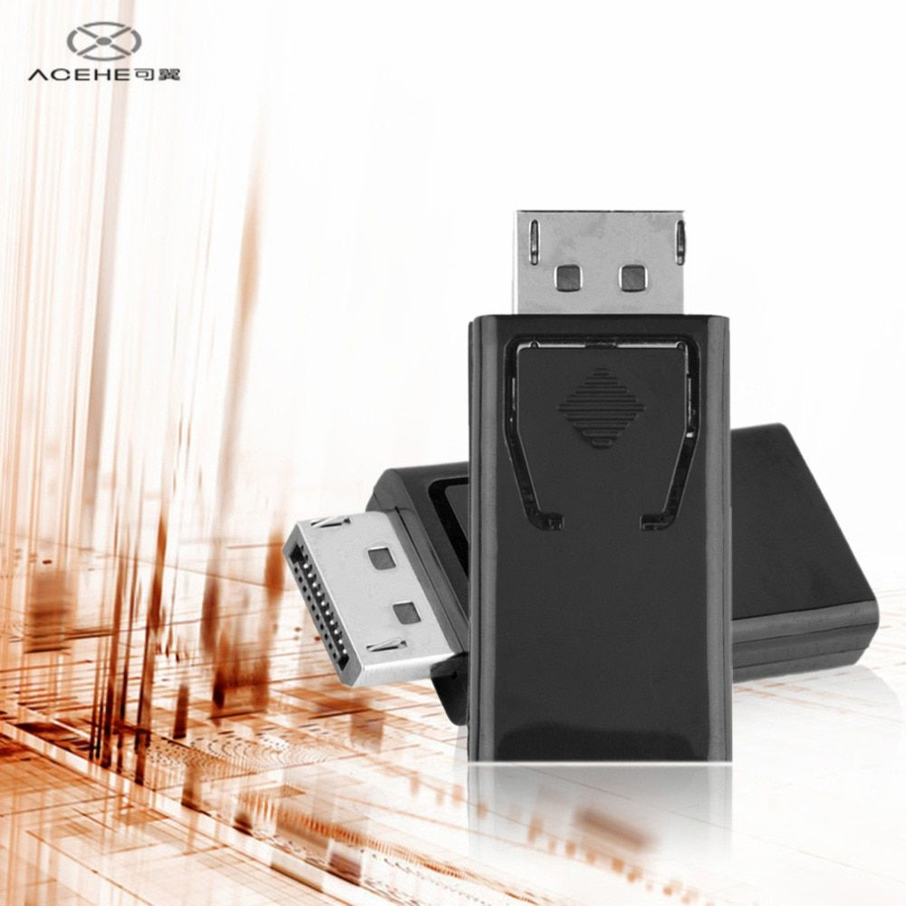 ACEHE Display Port DP Male To HDMI Female Adapter Converter Video Audio Connector for HDTV PC Wholesale High Quality in stock!!!