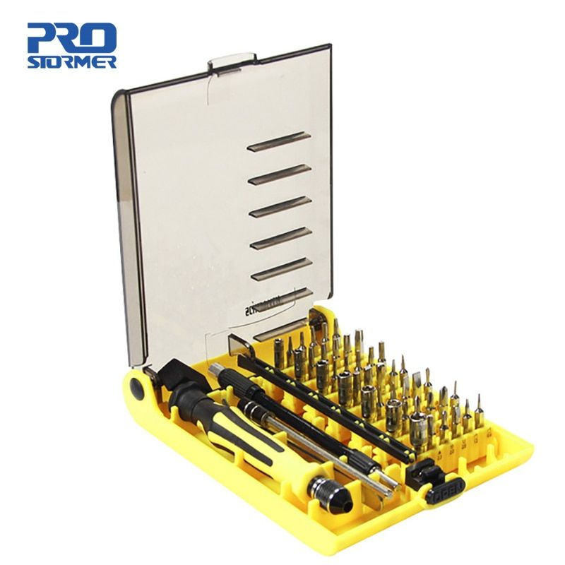 Prostormer 45 in1 Main Tool Set Multi-Précision Magnétique Tournevis À La Main Ensemble Des Ménages pour Téléphone PC Kit De Réparation iphone