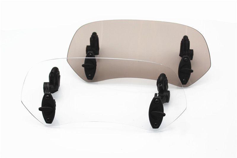 Universal Adjustable Screen Windscreen Windshield Spoiler Air Deflector for YAMAHA KAWASAKI SUZUKI KTM HONDA TRIUMPH BMW