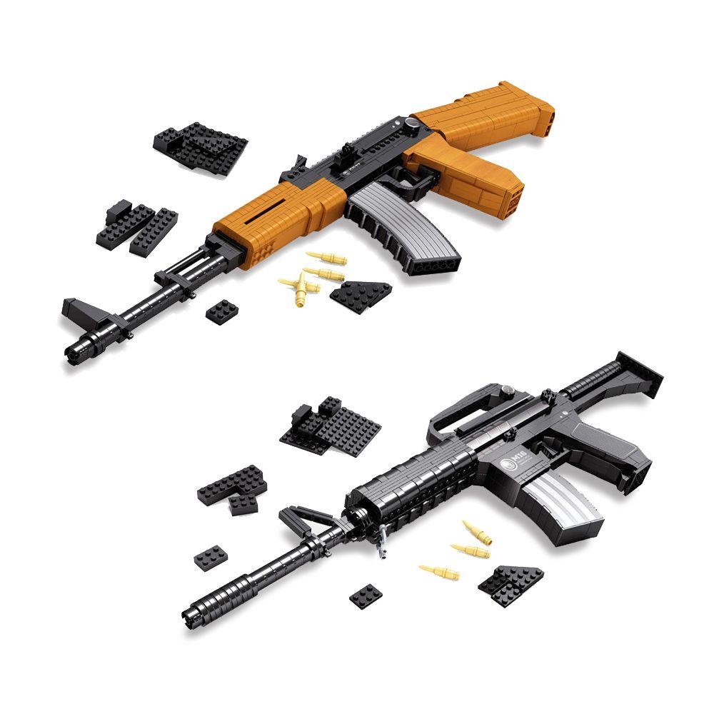 M16 AK47 Ausini SVD Sniper pistolet blocs de construction arme militaire Sniper pistolet éducatif éclairer bricolage brique Compatible avec cadeau