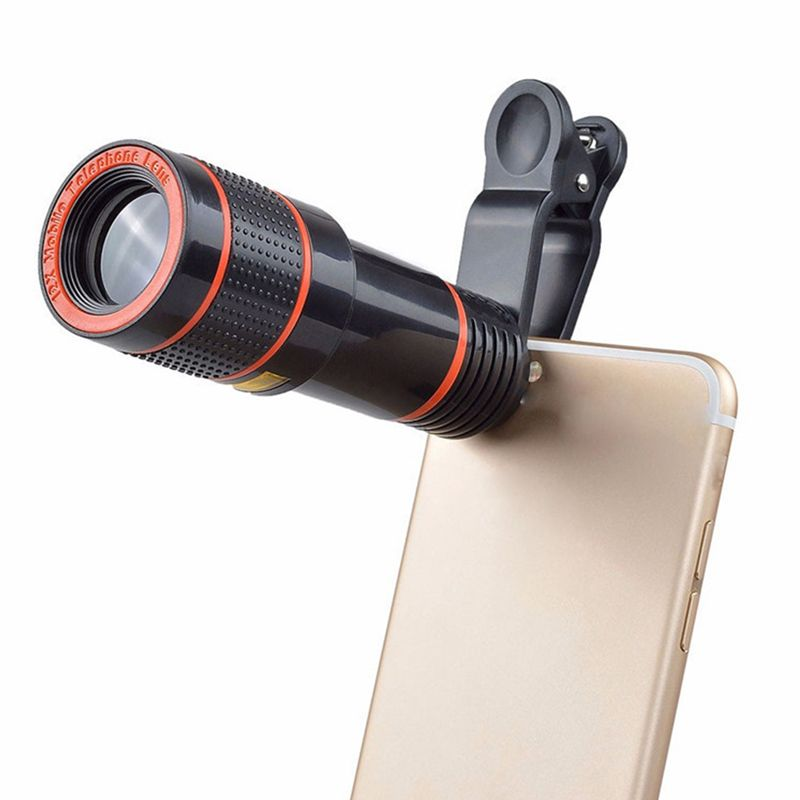 Clip-on 12x Optical Zoom Mobile Phone Telescope Lens HD Telescope Camera Lens For Universal Mobile Phone High Quality
