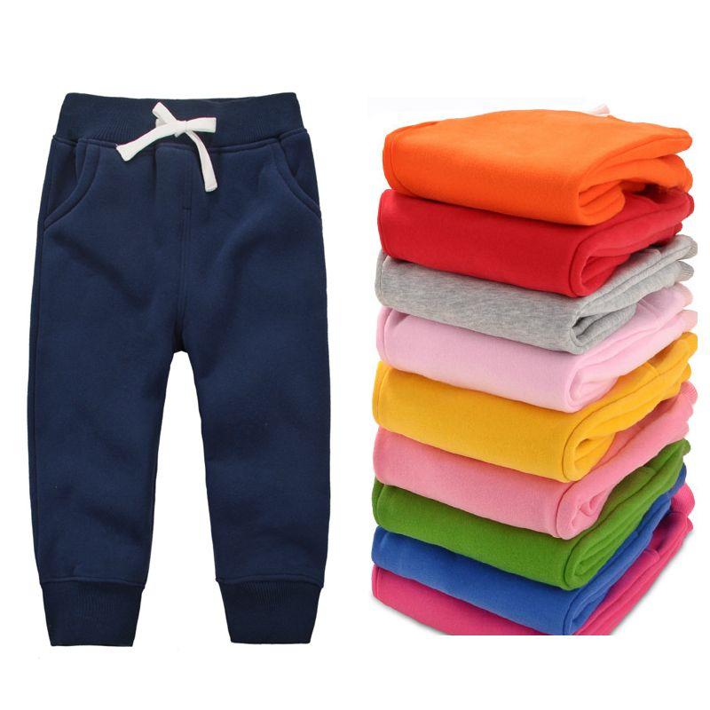 Cemigo/новые детские теплые брюки для маленьких мальчиков флисовые брюки зимние штаны для маленьких девочек Детские повседневные брюки HB506