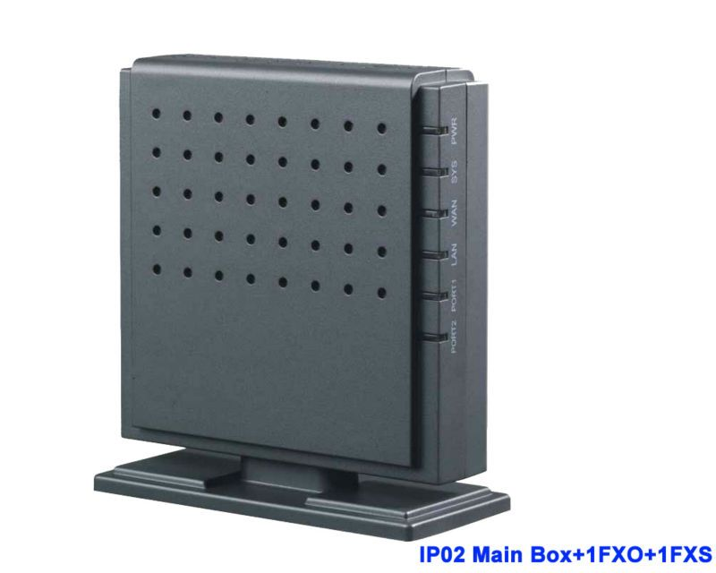 IP02 - 1O1S Analog trunk Asterisk IP PBX with Module for 1 FXS 1FXO VOIP PBX System for Free Call PBX SIP Phone gateway