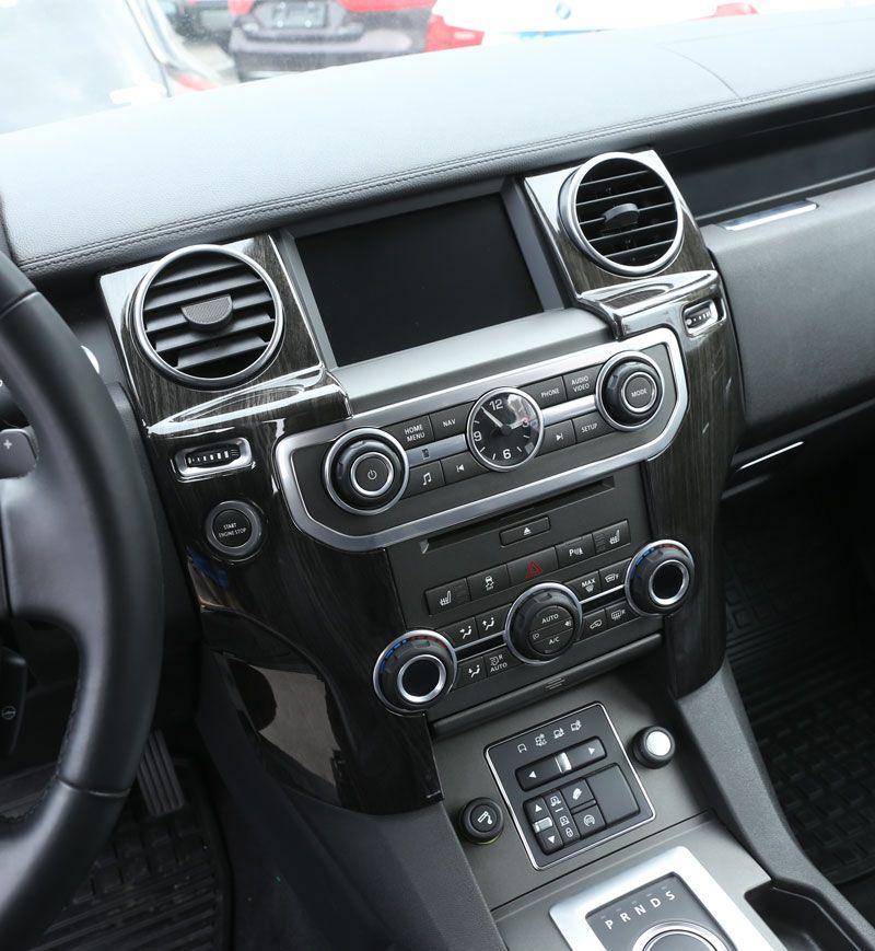 Для Land Rover Discovery 4 LR4 Интимные аксессуары ABS темное дерево зерна центральной консоли ac Выход Обложка отделка Стикеры для LHD 2 шт./компл.