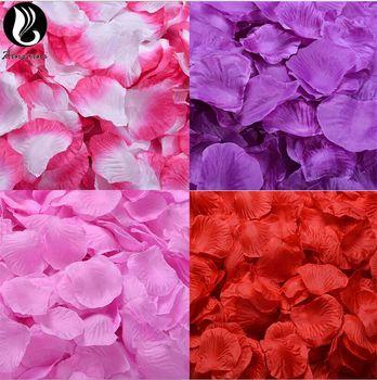 Pétales de Rose Pour Le Mariage Coloré Fleurs En Soie Artificielle Fleur De Mariage Accessoires De Mariage Pétales Petalos De Rosa De Boda BV266