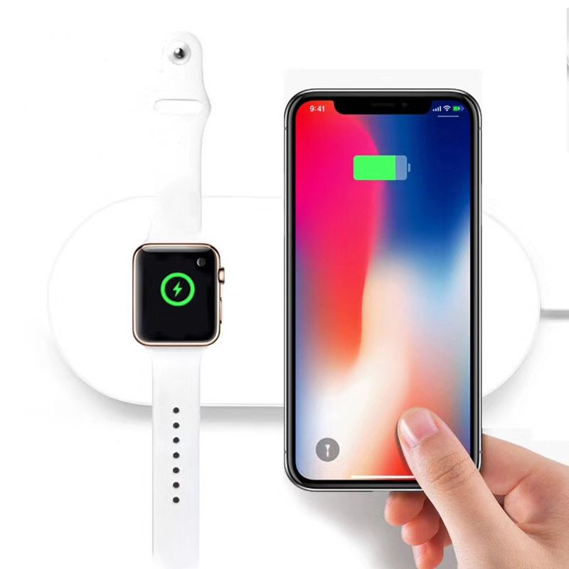 VERY WAY Qi Wireless Charger Pad for apple watch iwatch series 2 3 for iphone X 8 8 plus support 7.5w fast charging stand repair