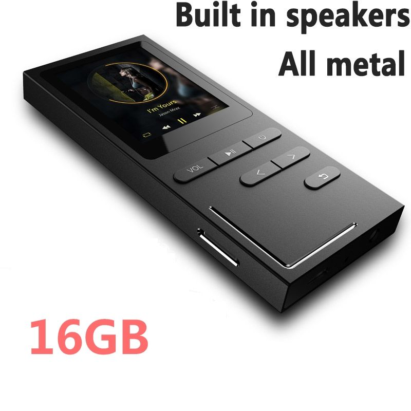 8G/16G Hi-Fi MP3 Player Lossless Music Player 70 Hours Playback Build-in Speaker Voice Recorder / FM Radio Expandable Up to 64GB