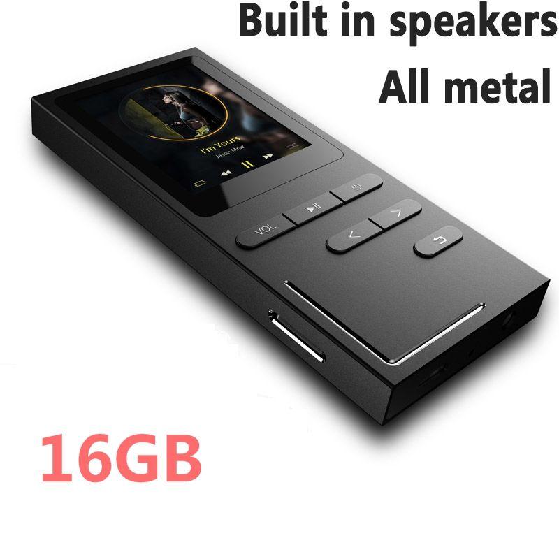 Lecteur MP3 Hi-Fi 8G/16G lecteur de musique sans perte 70 heures de lecture haut-parleur intégré enregistreur vocal/Radio FM extensible jusqu'à 64 go