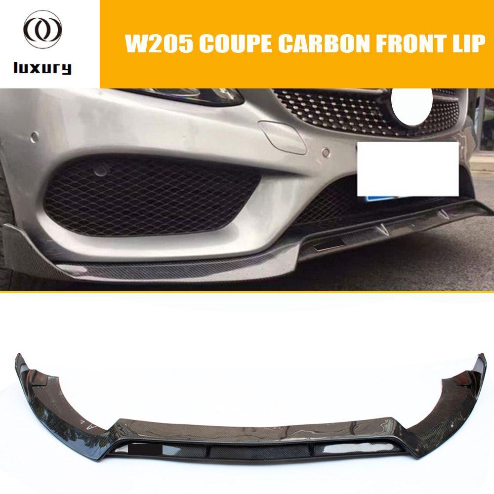 C205 Carbon Frontlippe für Benz W205 c-klasse Coupe C200 C300 C43 AMG Mit Amg Paket 2 Tür 2015-2018 (KEINE C63)