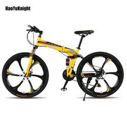26 дюймов 21 скоростной складной велосипед мужской/женский/студенческий горный велосипед двойной дисковый тормоз полный ударопрочный детск...