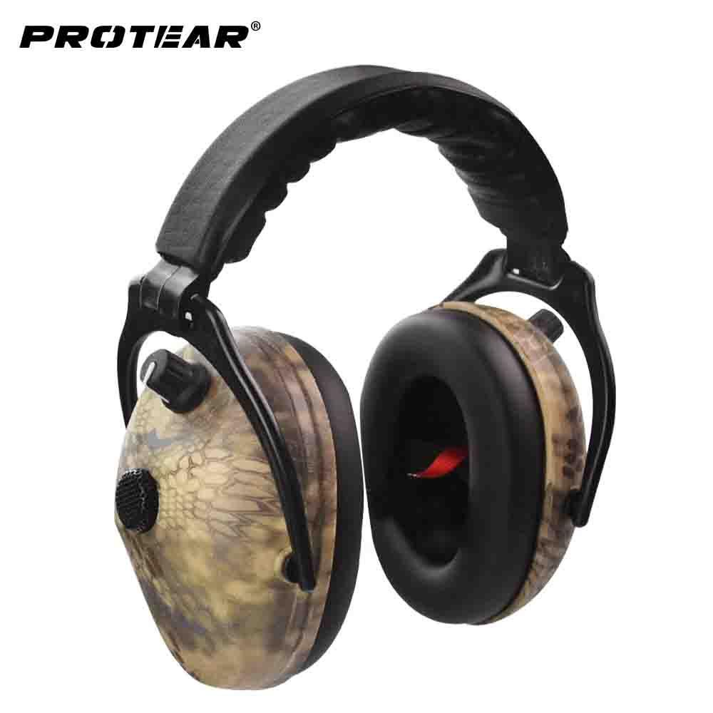 Protear Serpent Imprimé Protection Auditive Électronique Tir Manchon D'oreille Tactique Casque Protection Auditive de L'oreille Oreille Manchons pour La Chasse