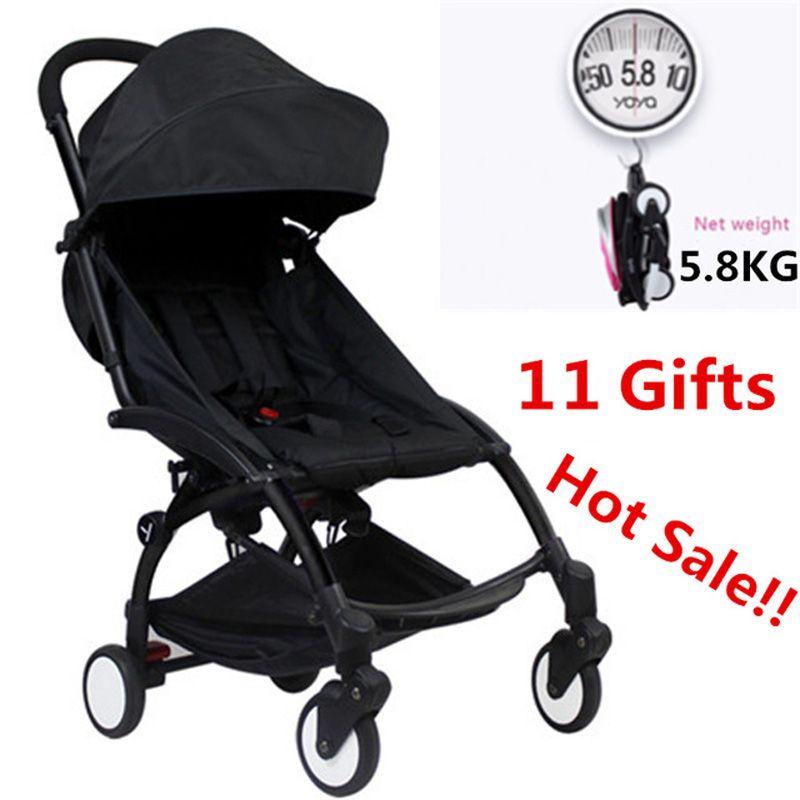 Original Yoya Baby Stroller Trolley Car trolley Folding Baby <font><b>Carriage</b></font> Bebek Arabasi Buggy Lightweight Pram Babyzen Yoyo Stroller