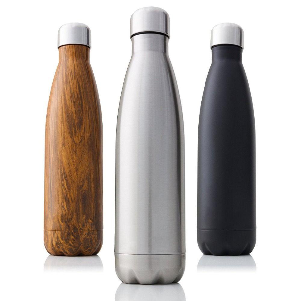 Thermos sans BPA de bouteille d'eau d'acier inoxydable de fiole à vide isolée à Double paroi de 350/500/750/1000ml pour des bouteilles d'eau de Sport