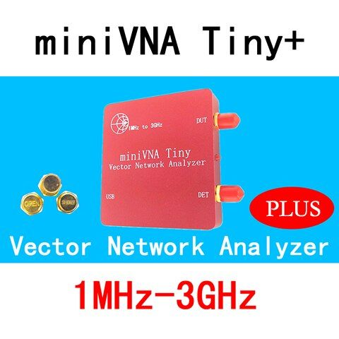 VNA 1M-3GHz Vector Network Analyzer miniVNA Tiny+ VHF/UHF/NFC/RFID RF Antenna Analyzer Signal Generator SWR/S-Parameter/Smith