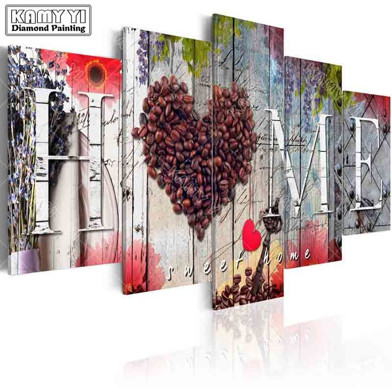 full square drill Diamond embroidery beautiful love home 5D DIY diamond painting Cross Stitch Multi-picture home decoration