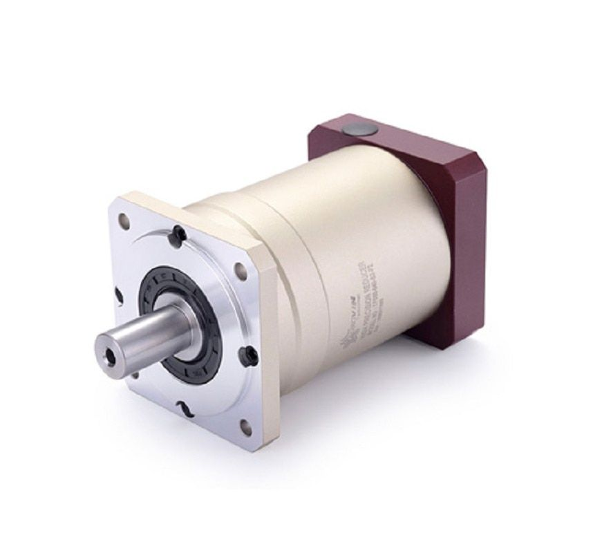 120 Double brace Spur gear planetary reducer gearbox 12 arcmin 15:1 to 100:1 for 1.5kw 2kw AC servo motor input shaft 19mm