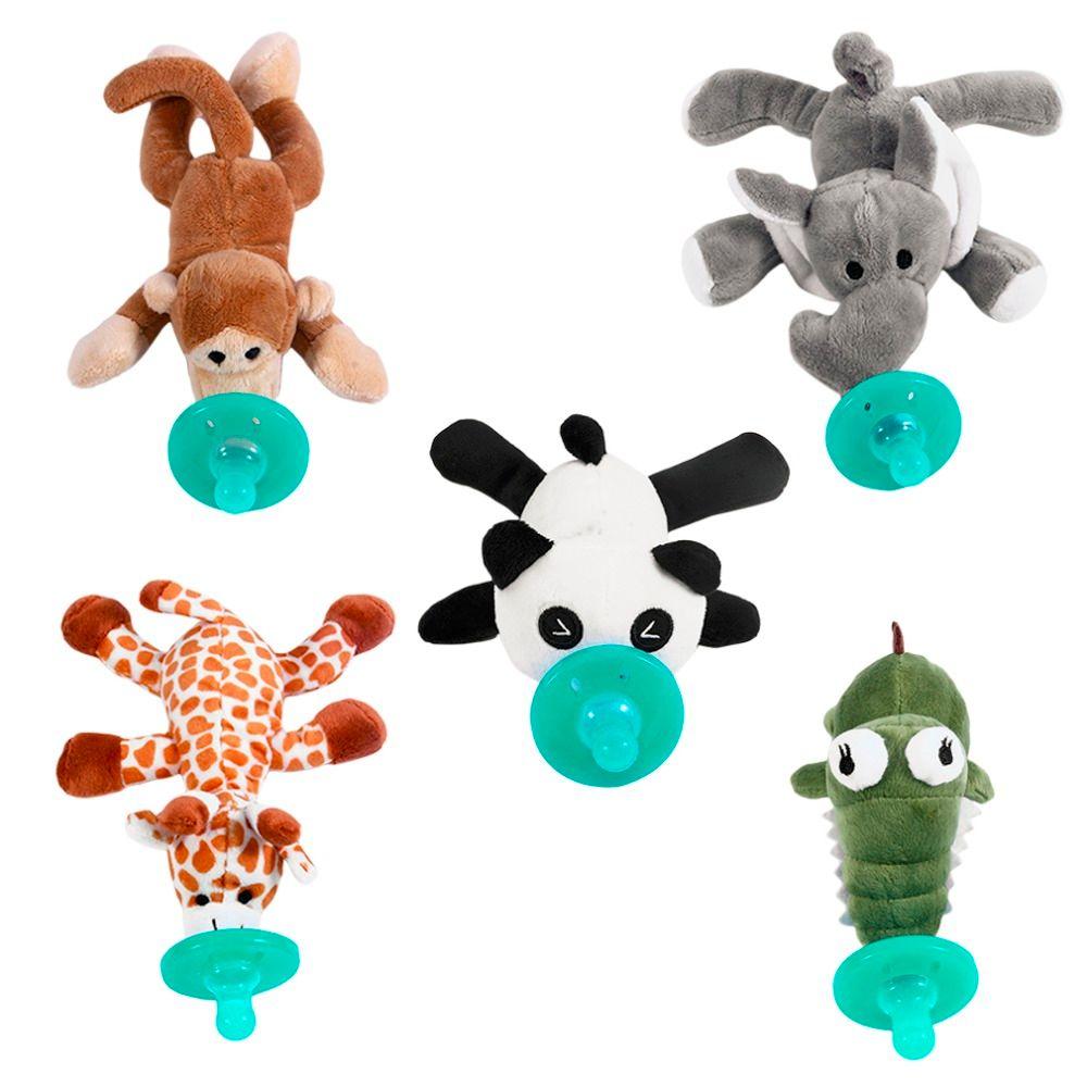 Детские Соски силикона chupeta мультфильм животных Соски с Мягкие плюшевые игрушки Еда силикона новорожденных пустышка соски BPA бесплатно