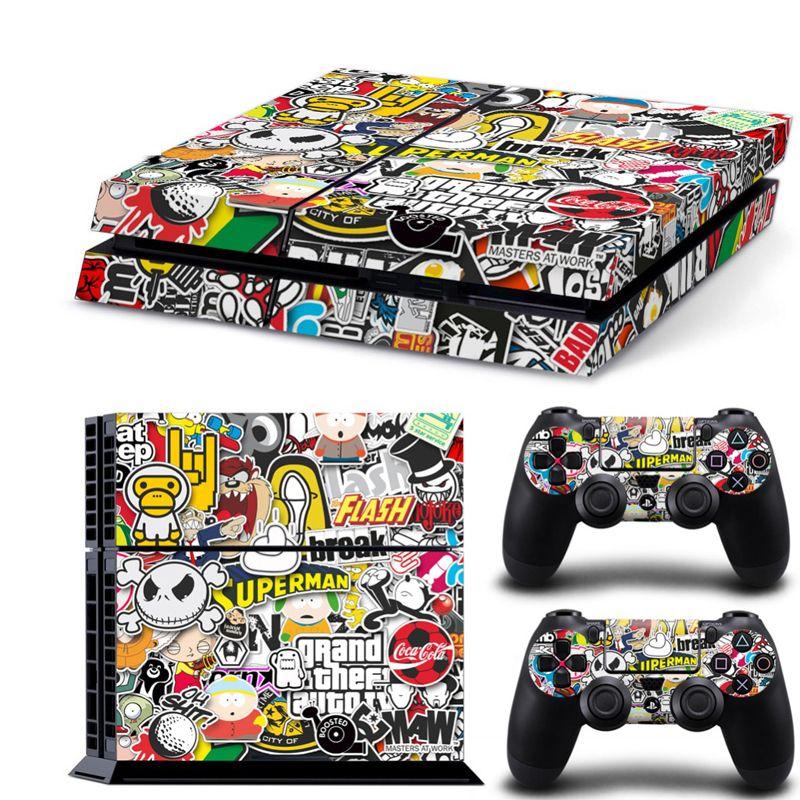Бомба граффити для PS4 винил кожи Стикеры чехол для PS4 PlayStation 4 консоли + 2 контроллер наклейка игры Интимные аксессуары