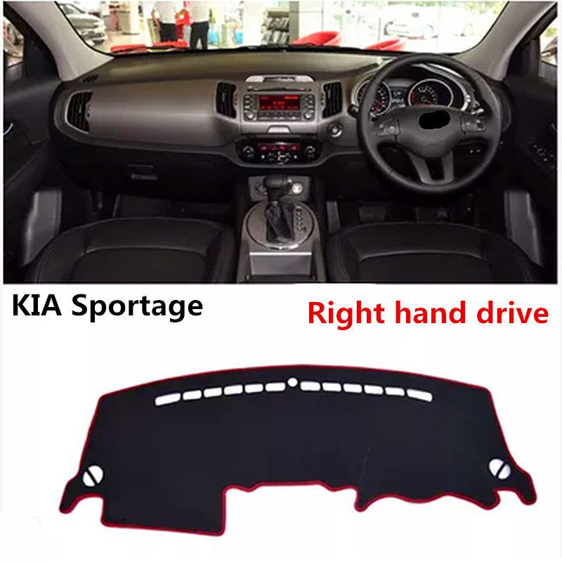 2017 TAIJS  right hand drive fashion style car dashboard mat pad cover for KIA Sportage special  light pad mat   for KIA
