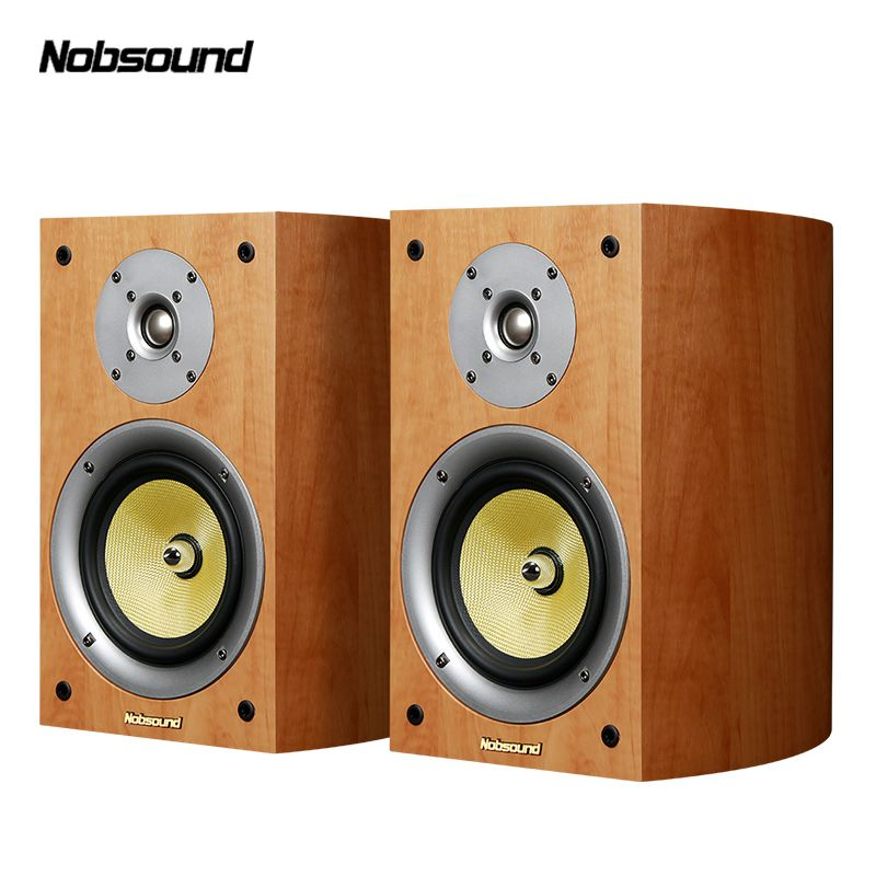 Nobsound VF301 Two-Way Wood 100W Bookshelf Speakers 2.0 HiFi Column Sound Home Professional speaker