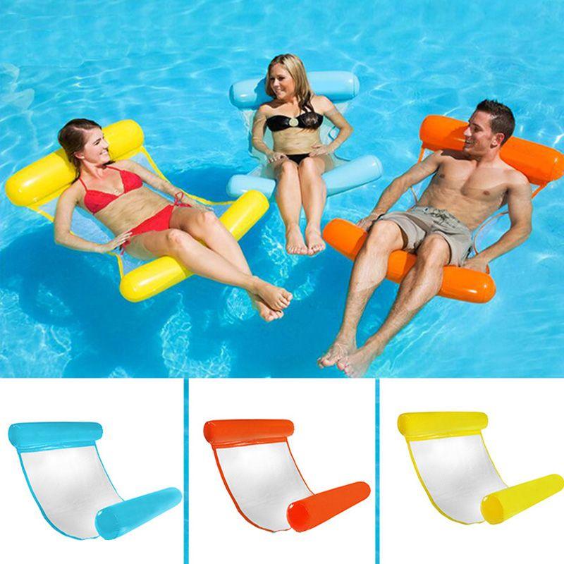 Nouveau lit flottant gonflable d'été offre spéciale anneau de natation eau hamac chaise longue jouets flottants plage natation pour enfants et adultes
