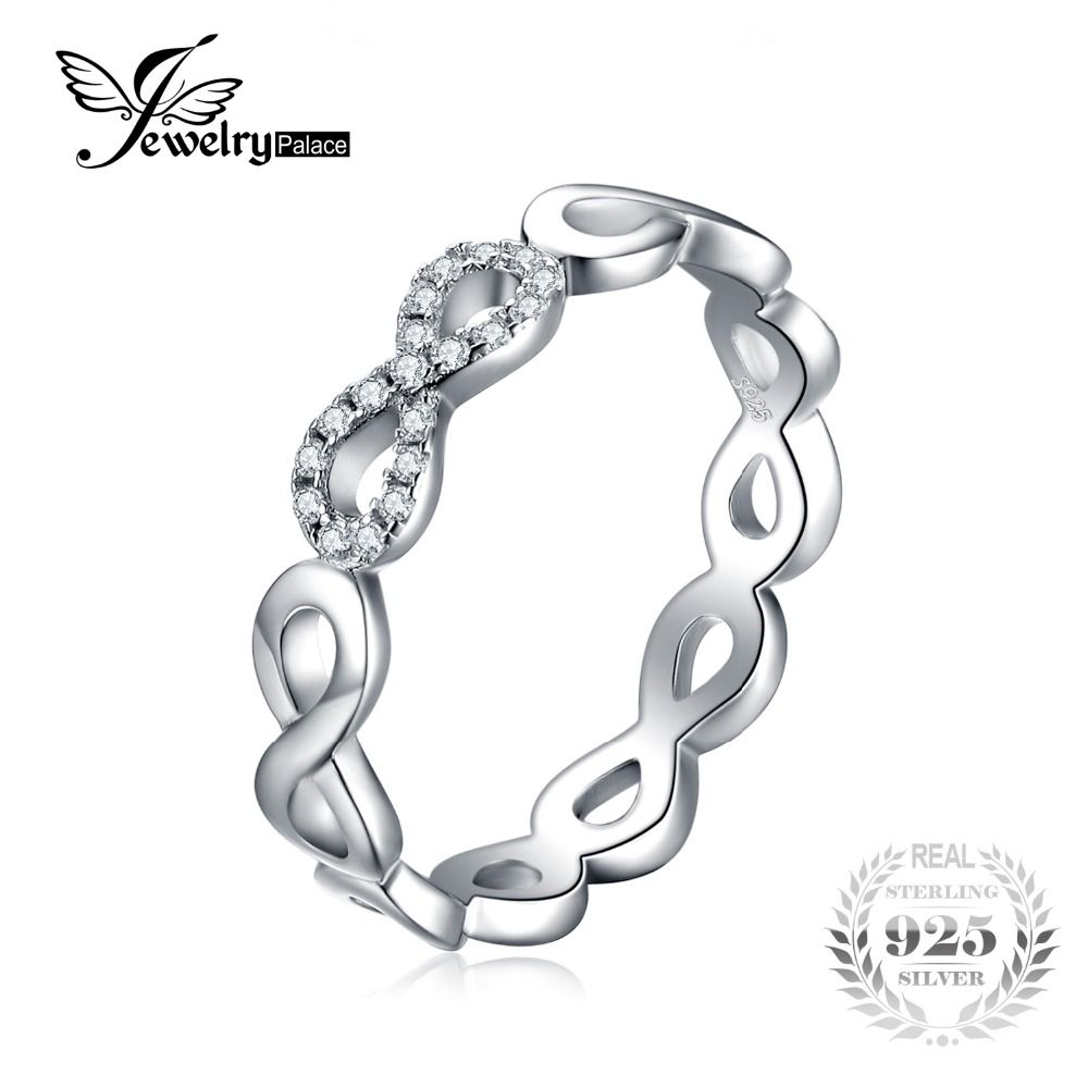 JewelryPalace Infinity Forever Love Anniversary Promise Ring Pure 925 Sterling Silver Jewelry For Women Gift