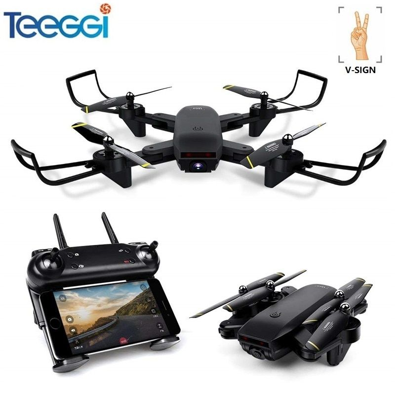 Professional Selfie Drone Optical Follow Me RC Quadcopter with Dual Camera HD 720P FPV Dron Helicopter VS VISUO XS809S SG700 E58