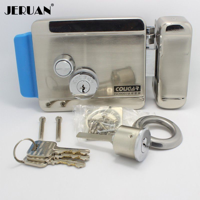 JERUAN ENVÍO LIBRE Cerradura Electrónica Para El Teléfono Video de La Puerta de Control de Acceso Timbre Seguridad Para El Hogar En Stock