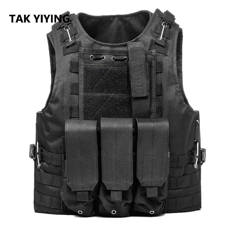 TAK YIYING Jagd Military Airsoft MOLLE Nylon Kampf Paintball Tactical Weste CS Outdoor-produkte