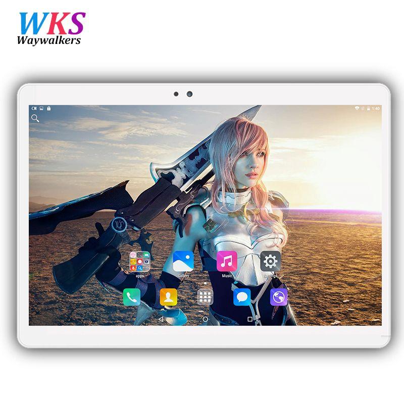2017 el más nuevo de 10.1 pulgadas tablet pc Android 6.0 RAM 4 GB ROM 32/64 GB Dual SIM GPS Bluetooth 1920*1200 IPS tablets pc libera el envío