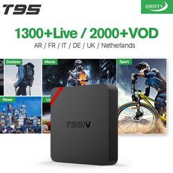 Arabe IPTV Boîte T95N Android 6.0 Smart TV Box S905X 1300 IPTV Canaux QHDTV Code Abonnement IPTV Français Europe Italie IPTV Boîte
