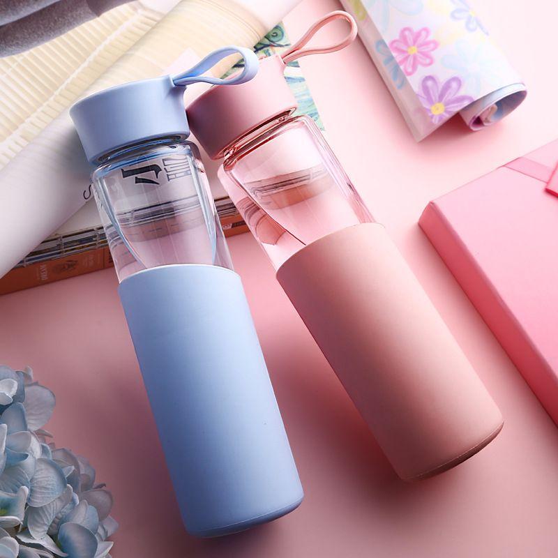 Стеклянная бутылка воды герметичное уплотнение большой Ёмкость Спорт пить кофе моего путешествия спортивные бутылки с водой Творческий Ро...