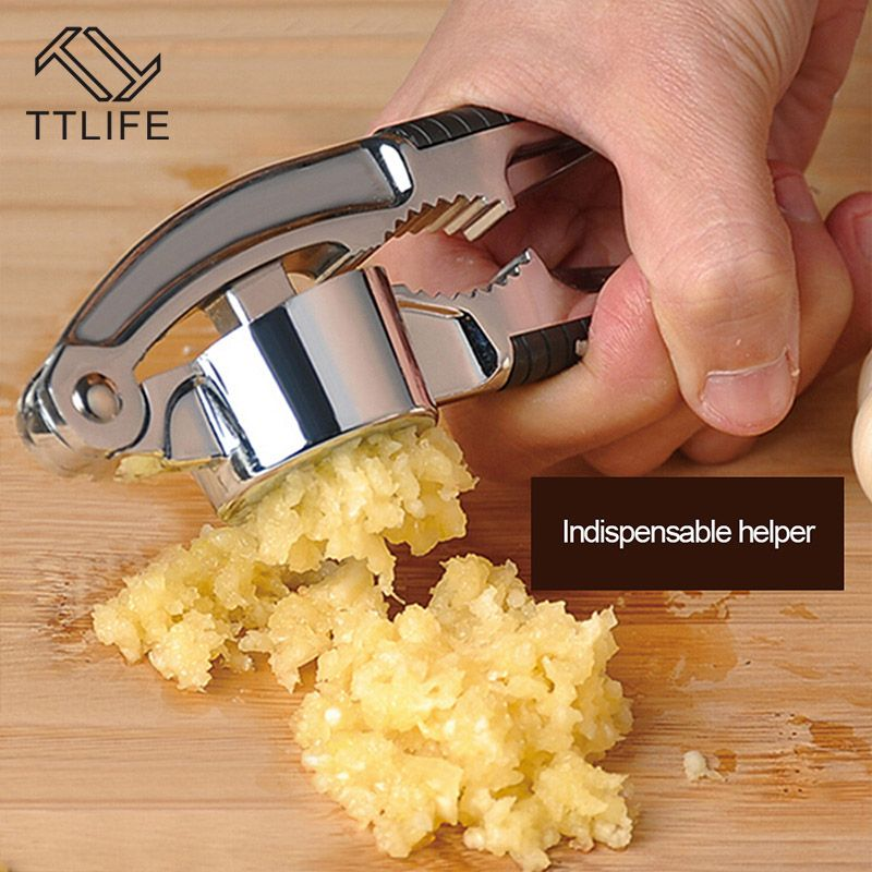 TTLIFE Multi Stainless Steel Kitchen Squeeze Tool Alloy Ginge Crusher Garlic Presses Garlic Grinding Kitchen Hand Tool