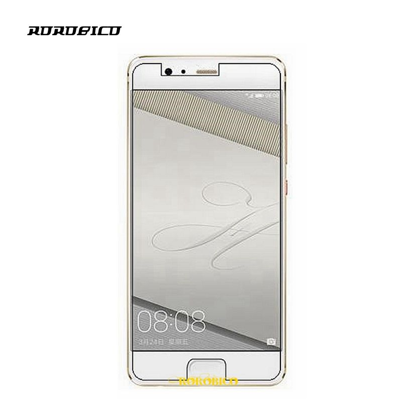 ROROBICO 2.5D 0.3mm Front Explosionproof Tempered Glass Film For Huawei P10 LCD High Clear Screen Protector For Huawei P10 2017