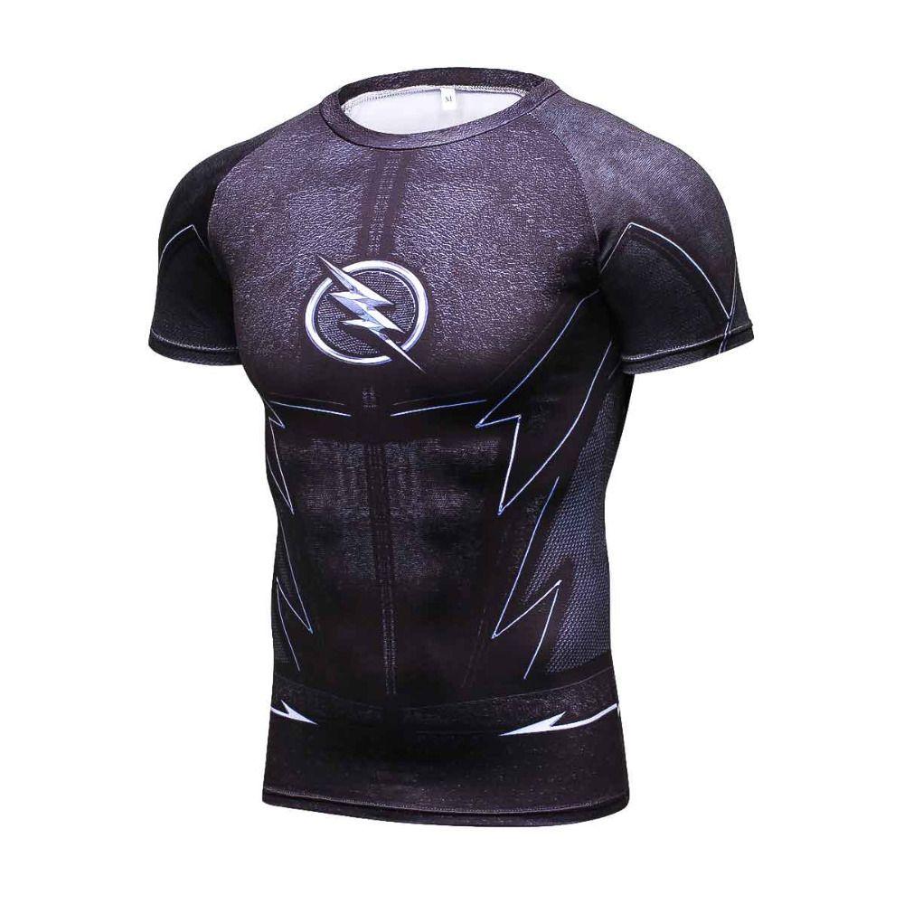 ZOOM 3D Imprimé T-shirts Hommes De Compression Chemise Raglan À Manches Courtes Flash Cosplay Costume À Séchage Rapide Crossfit Vêtements Tops Mâle