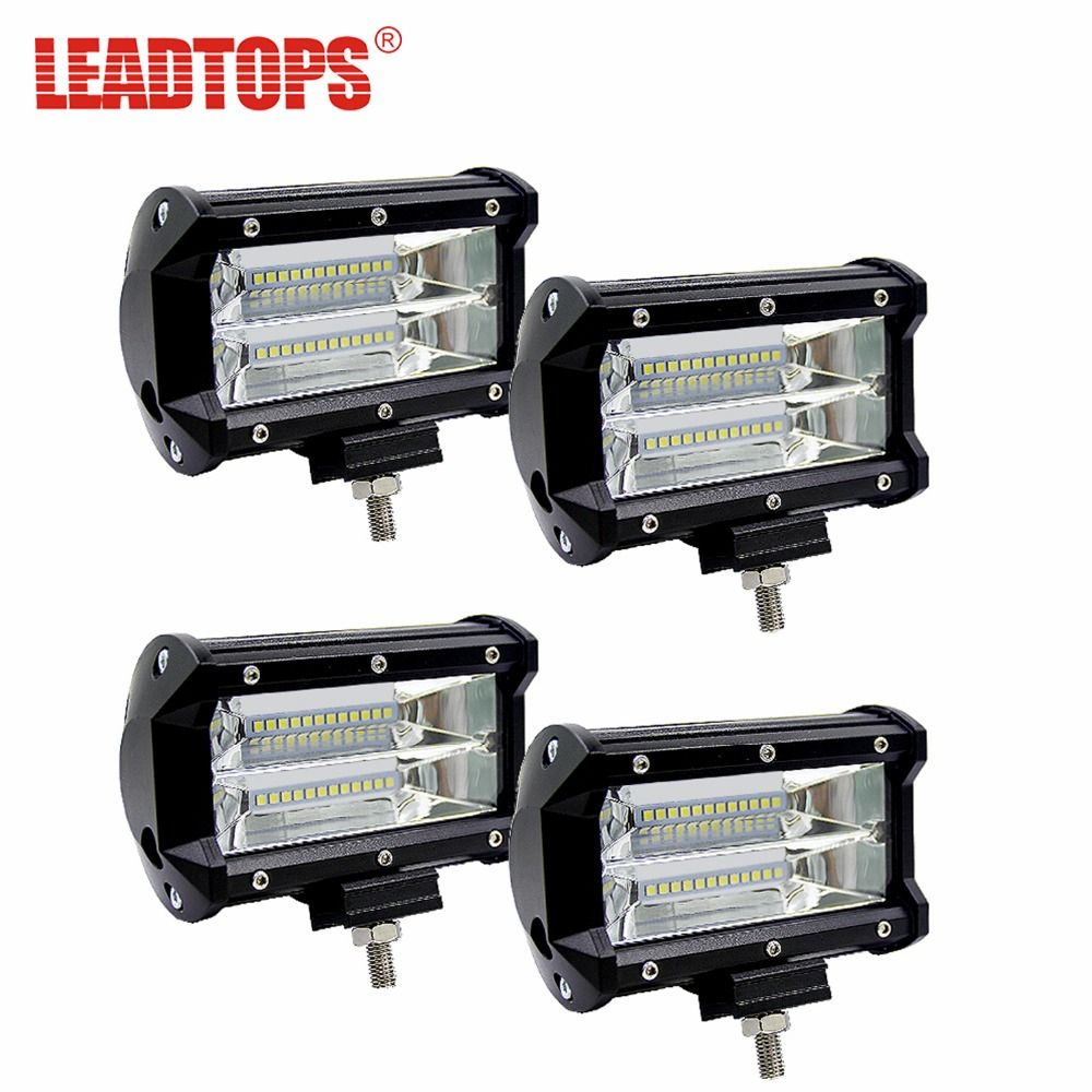 1lot Auto LED WORK LIGHT BAR FLOOD LIGHT 12V 24V CAR TRUCK SUV Motocycle Flood Light DRL LED Car Lamp Source Waterproof Lamp AE