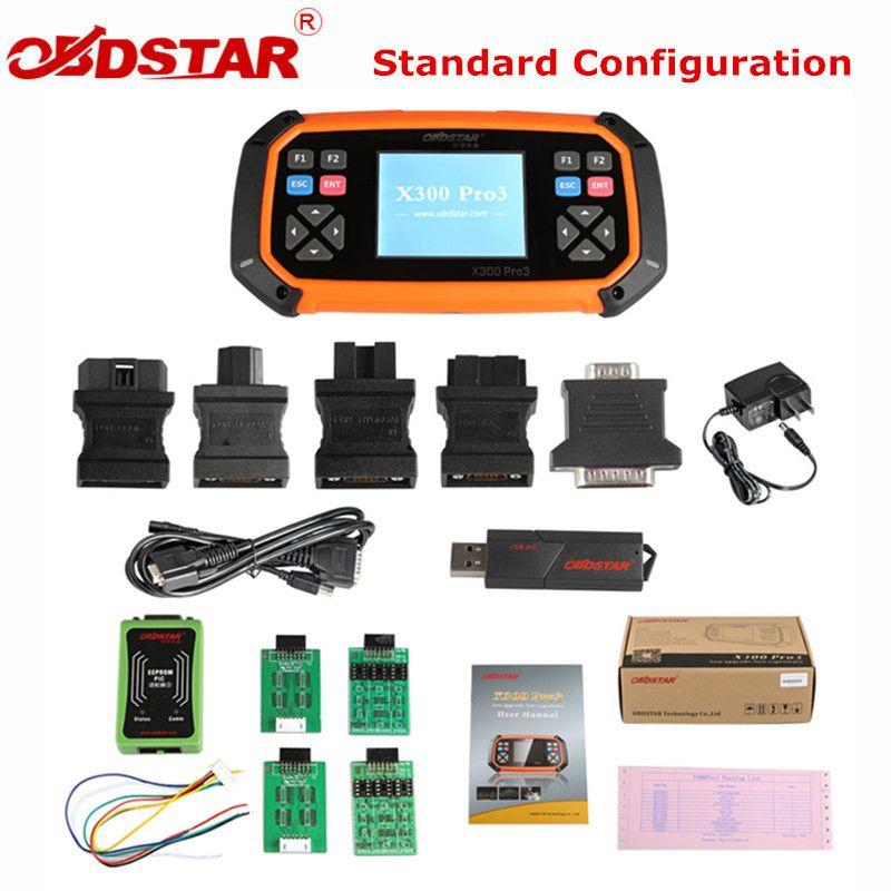OBDSTAR X300 PRO3 Schlüssel Master Standard Konfiguration Wegfahrsperre Kilometerzähler Einstellung EEPROM für Toyota G & H Chip Alle Schlüssel Verloren
