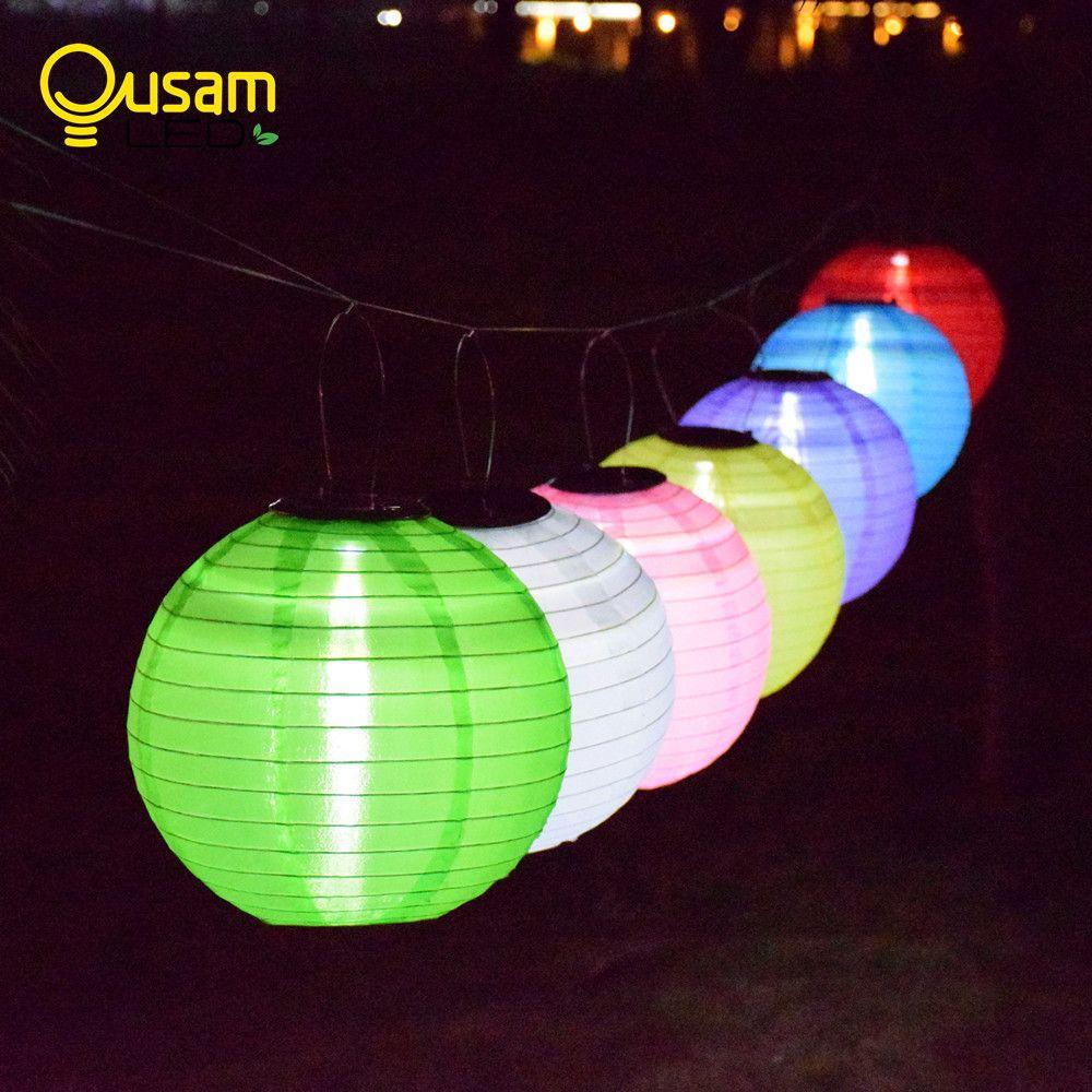 Étanche Extérieure Jardin Lumière Solaire Fée LED Festival Lanternes Suspendues Lampe Solaire De Noël 7 Couleurs Paysage Éclairage