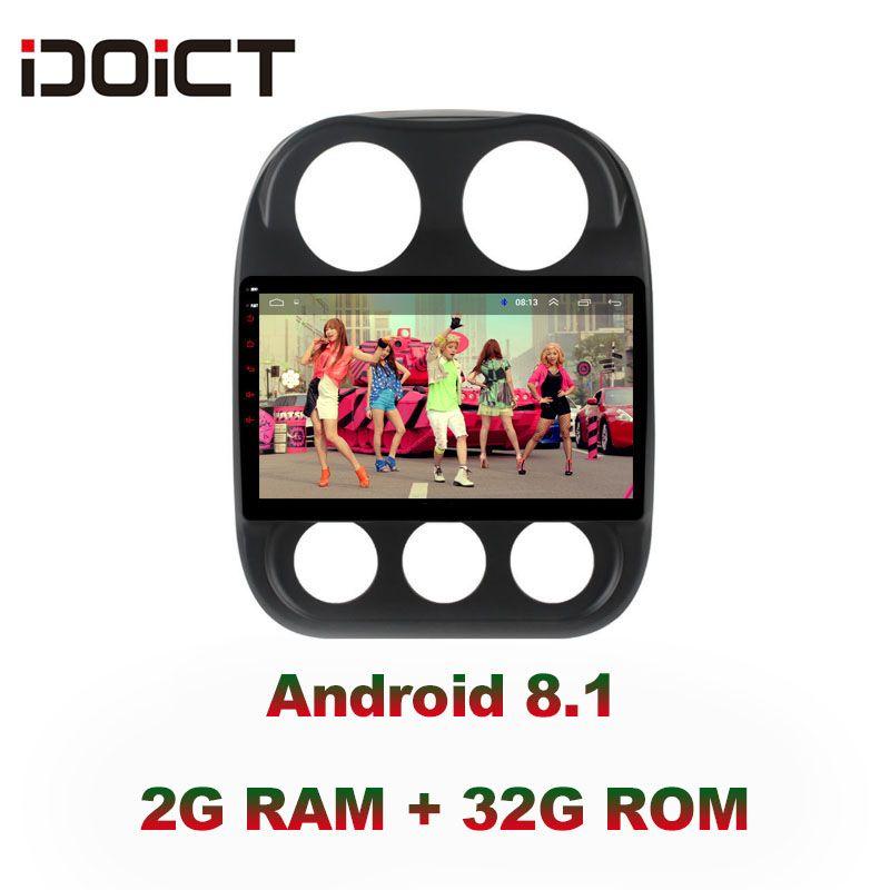 IDOICT Android 8.1 IPS 2G + 32G Auto DVD Player GPS Navigation Multimedia Für JEEP Compass Patriot Radio 2009 -2016 auto stereo