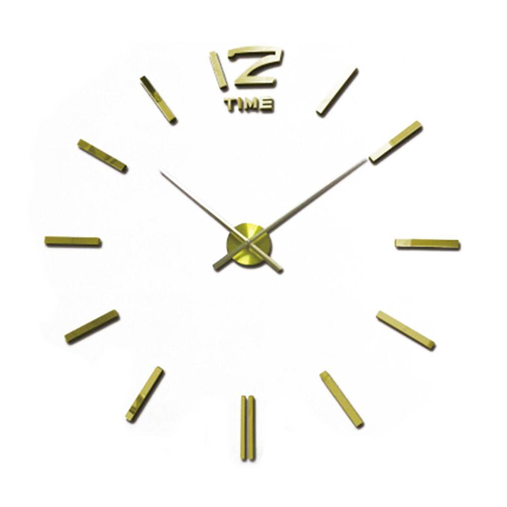 Времениподобны 2016 Горячей Продажи 3D Дизайн Моды Большой Настенные Часы Зеркало Стены стикеры Сделай Сам Часы Home Decor Reloj Де Сравнению