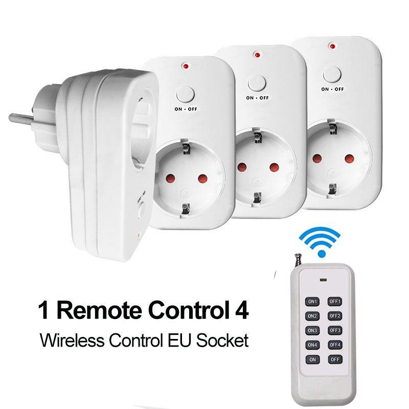 Prise de courant EU RF prise de contrôle sans fil prise de courant intelligente RF433 télécommande allumer/éteindre appareil ménager maison intelligente 110-240 V
