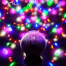 YNL LED Lamp Crystal Stage Light RGB 6W E27 Colorful Magic crystal Ball DJ Disco Party KTV Home effect Bulb Auto Rotating Lamp