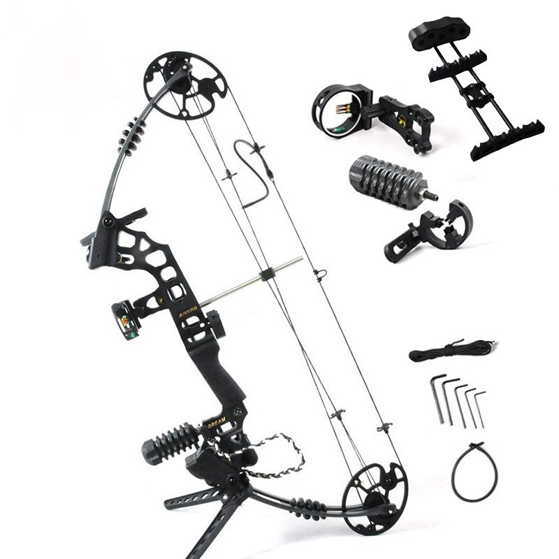 Adjustable 30-70 lbs Archery Compound Bow With Complete Accessories Powerful Outdoor Hunting Shooting Archery Bow Arrow G204