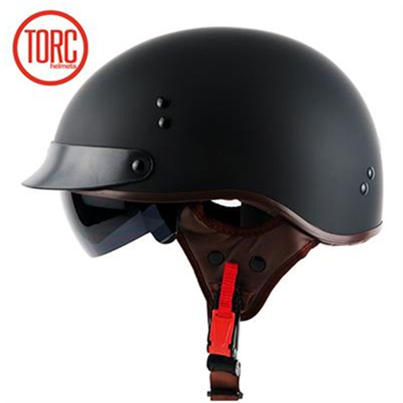 TORC chopper bike style <font><b>motorcycle</b></font> helmet T55 series novelty Safety motorbike helmet With Inner sunglasses DOT approved