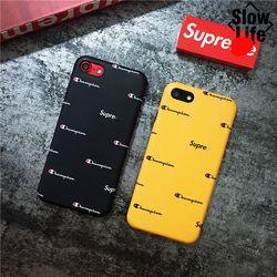 NOUS Street Style De Mode chaude Suprem Champion Doux Dope Fantaisie Cas Téléphone couverture Pour l'iphone 6 s 7 8 Plus X Cas Mode Fundas Coque