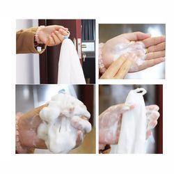 1 Pcs Mencuci Wajah Berbusa Net Untuk Sabun Membuat Spons Mandi Mesh Busa Mandi Kain Antibakteri Wajah Bersih Aksesoris Kamar Mandi set Panas