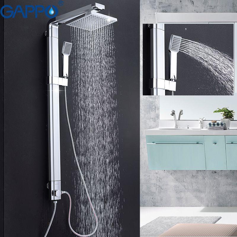 Gappo для ванной смеситель для душа стены ванной смеситель для душа S Набор водопад стену душевой смеситель комплект abs ванна, тропический душ ...